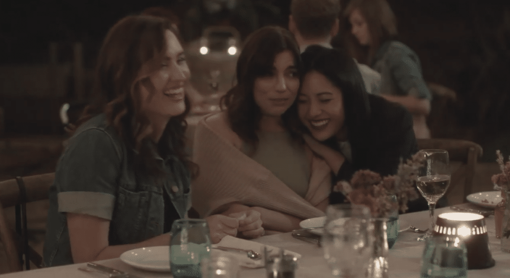 Constance Wu and Angela Trimbur star in improv comedy The Feels on Netflix