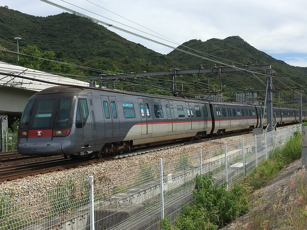 The train was believed to be operating on the Tung Chung line of the Hong Kong rapid transit system. File photo