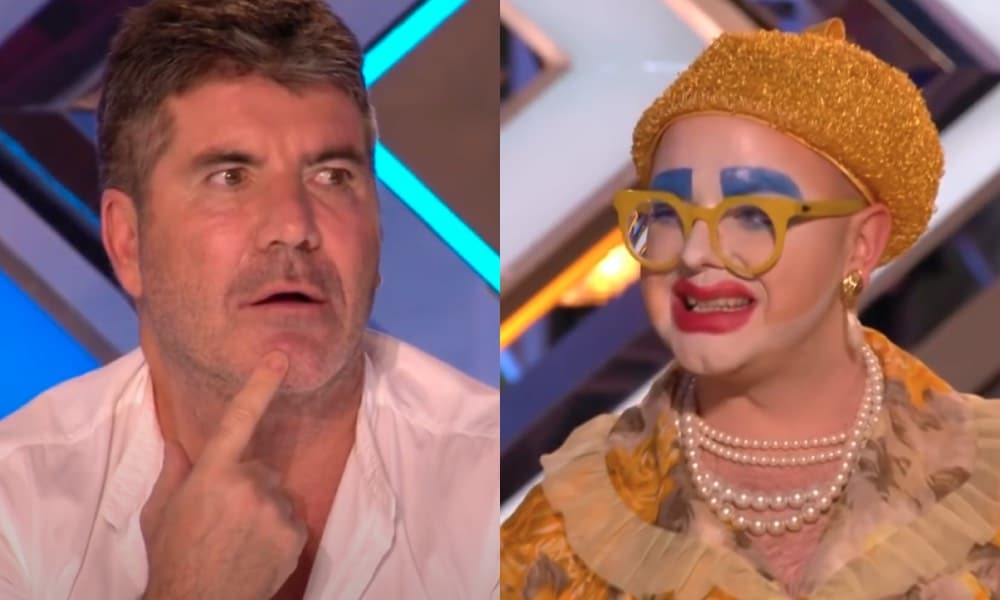 Simon Cowell and Ginny Lemon