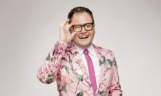 Alan Carr in a floral suit