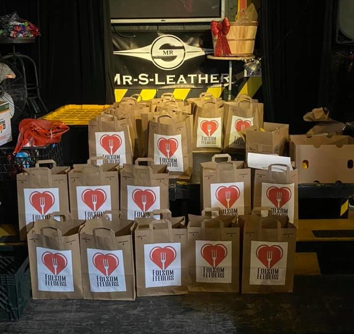 The pop-up food bank supplied support from leather venue Powerhouse Bar