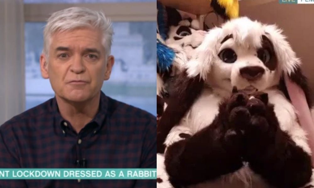 Philip Schofield chats to Adrian James, a furry
