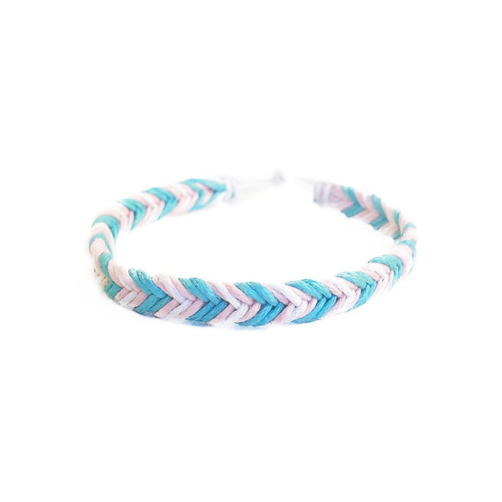 The trans pride bracelet is part of a collection
