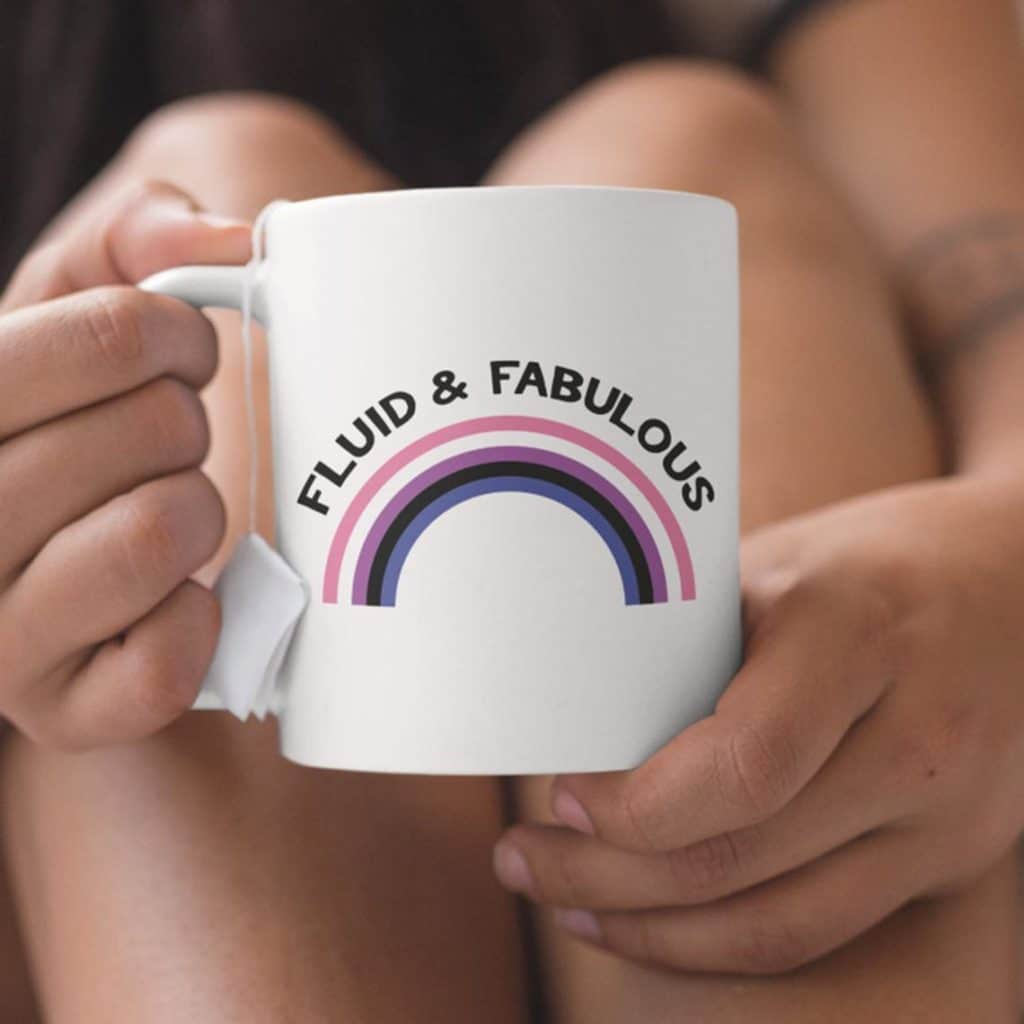 The Fluid & Fabulous mug is part of a collection from an LGBT+ store. (Etsy/RainbowandCoUK)