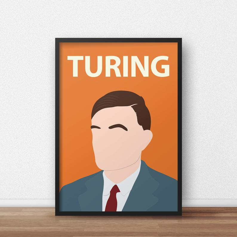 A print of LGBT+ icon Alan Turing. (IconicFaces/Etsy)