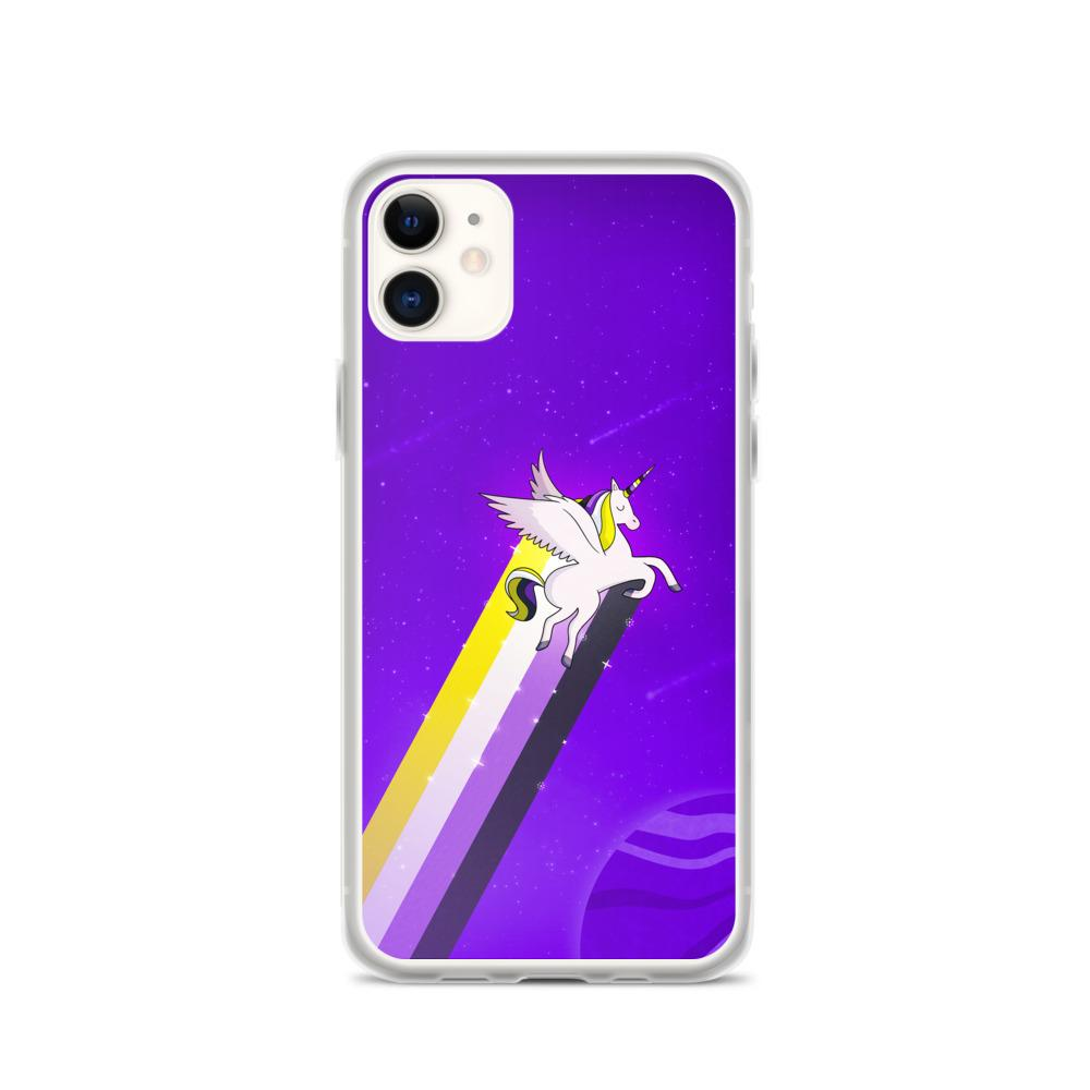 The Non-Binary Rainbow Unicorn Phone Case. (PinkNews)