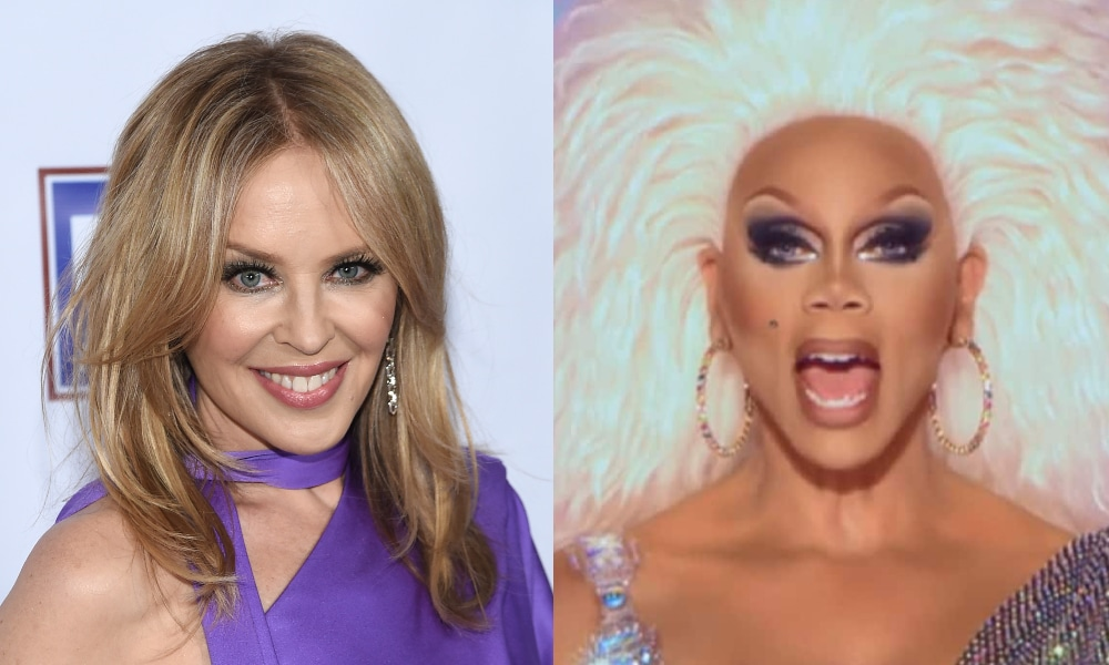 Kylie Minogue and RuPaul
