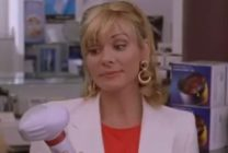 Samantha Jones holding a back massager