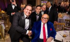 George Santos at a Mar-A-Lago New Year's Eve Party with Rudy Giuliani
