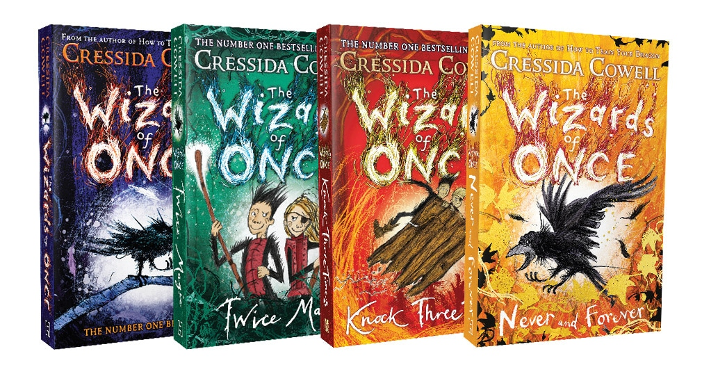 The Wizards of Once series is by Cressida Cowell