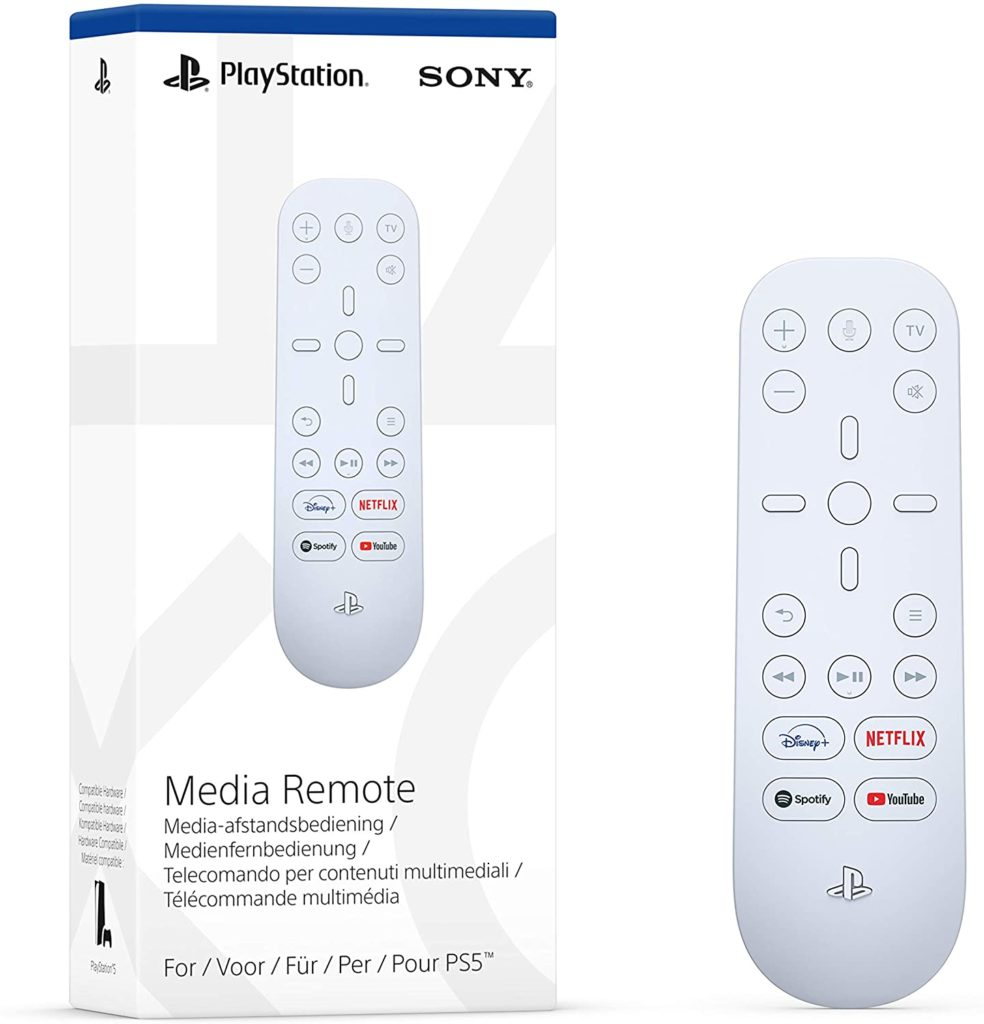 The media remote allows gamers to access apps including Spotift and Netflix. (Amazon/Sony)