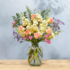 The Abby bouquet is priced at £35 and can also be purchased with a vase. (Bloom & Wild)