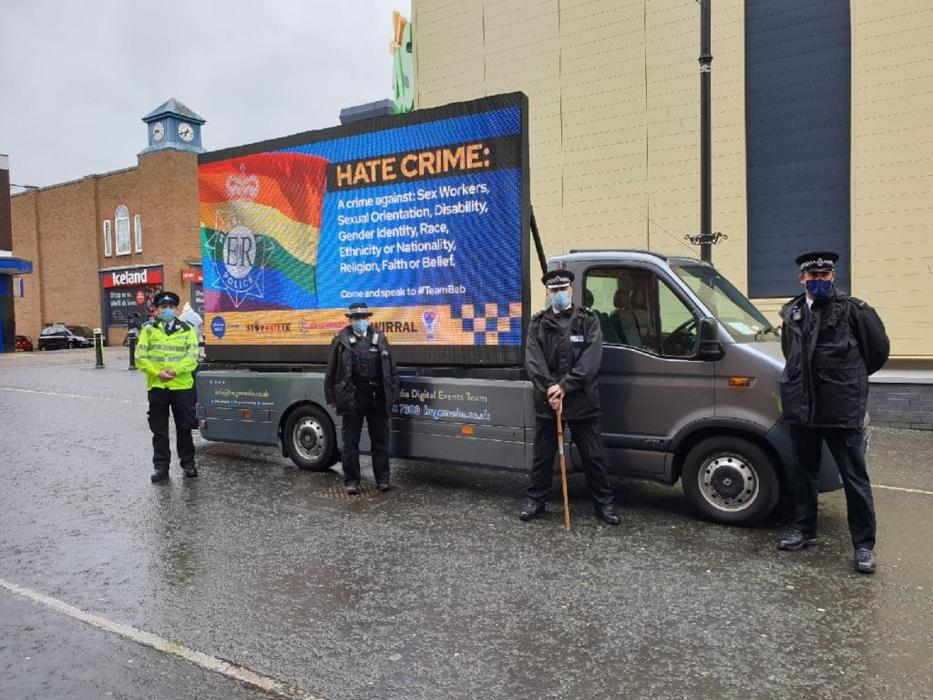 Merseyside Police have issued an apology for an LGBT+ hate crime campaign