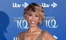 Headshot of Trisha Goddard in a diamanté dress