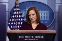 Joe Biden's press secretary Jen Psaki responded to claims LGBT+ rights will harm women.