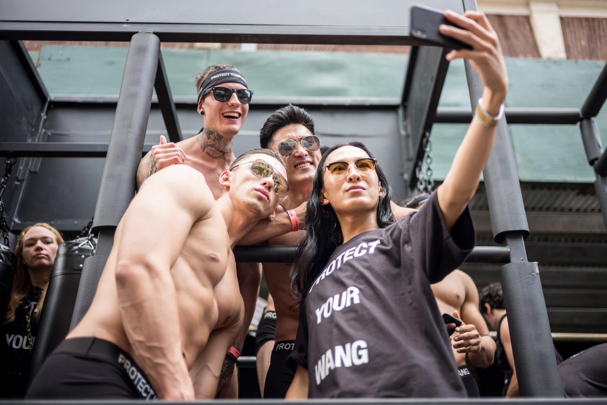 Alexander Wang attends the 2018 New York City Pride March