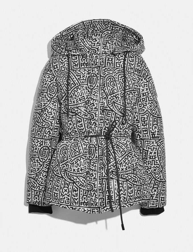 The leather puffer jacket from the collection. (Disney/Keith Haring Foundation)