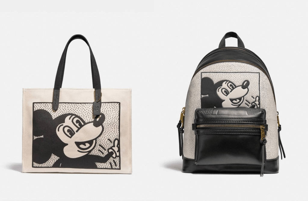 Two of the bags that are featured in the Coach collection. (Disney/Keith Haring)