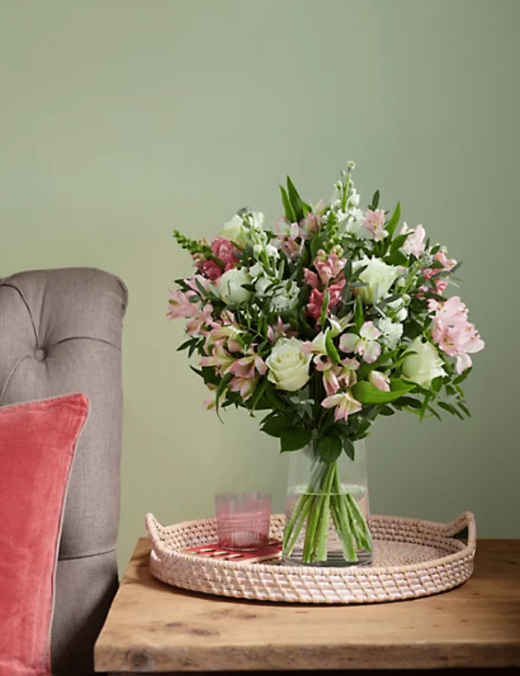 The 'lovely mum bouquet' is priced at £25 with free delivery. (Marks & Spencer)