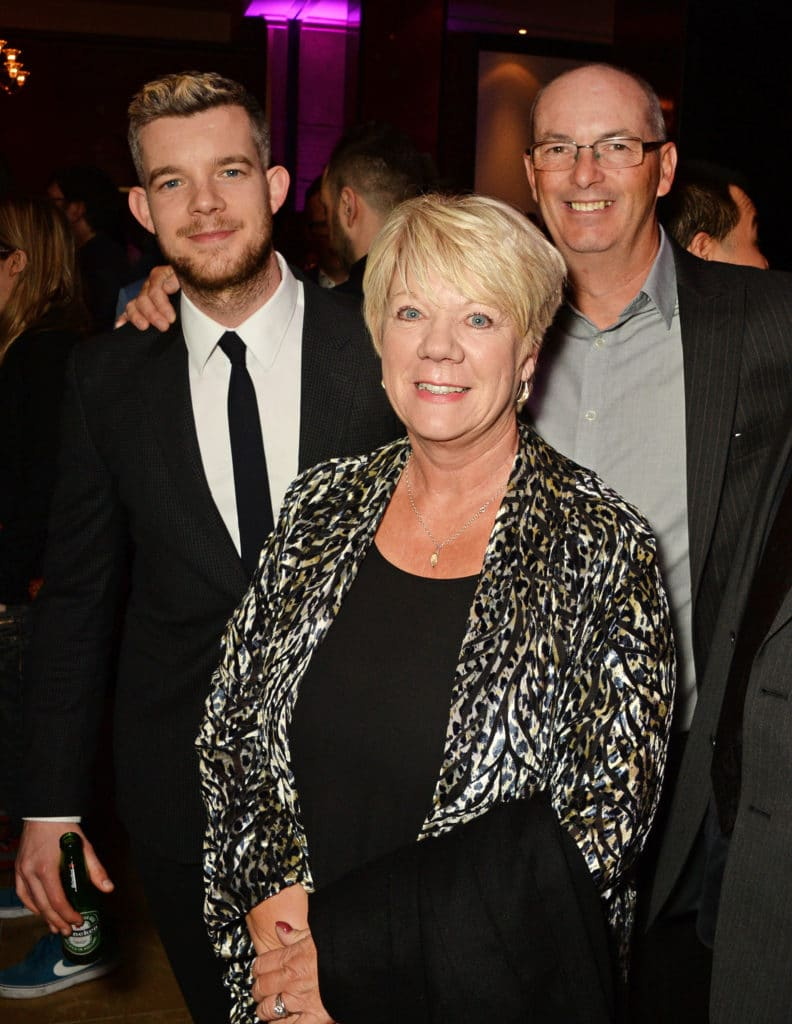 Russel Tovey with his parents