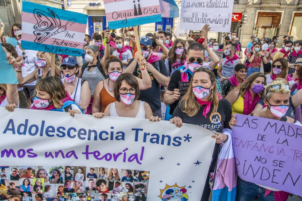 Spanish protests trans rights in spain