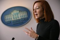 White house press secretary jen psaki talking to reporters