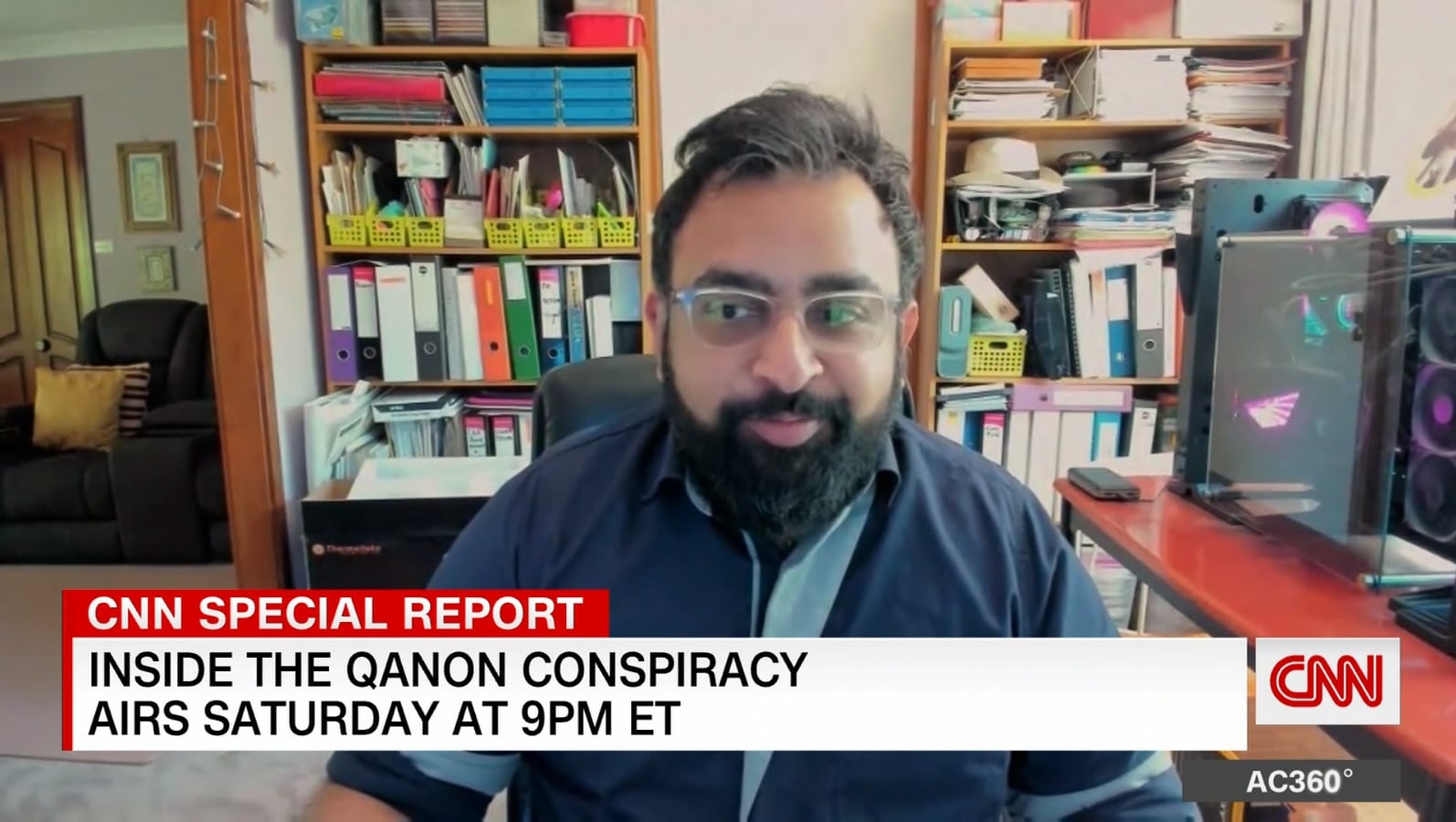 CNN anchor Anderson Cooper aired an extraordinary interview on Saturday with a former QAnon believer Jitarth Jadeja