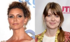 Headshots of Charisma Carpenter and Amber Benson smiling to the camera on the red carpet