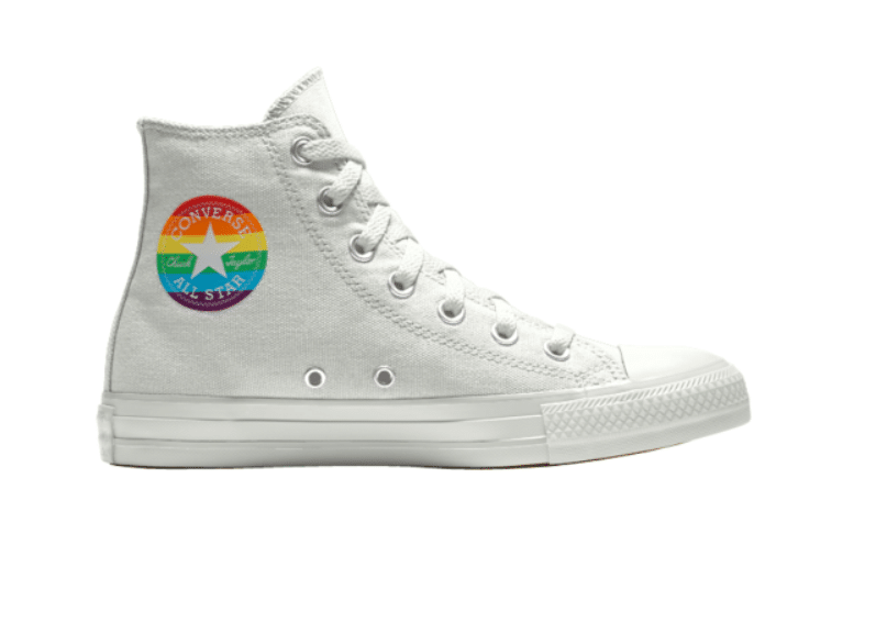 Converse has released a rainbow themed shoe for Valentine's Day. (Converse)