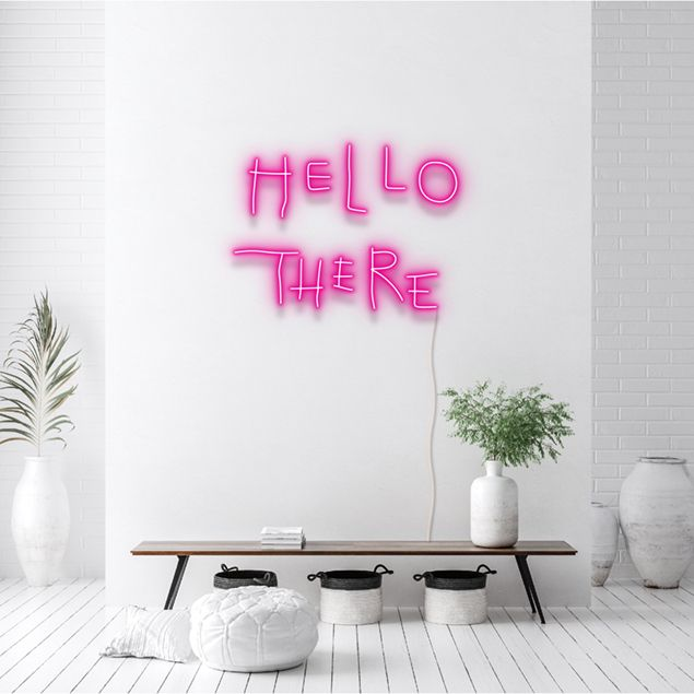 The Hello There/Hell Here neon sign inspired by Batman Returns. (CustomNeon)