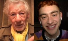 Sir Ian McKellen and Olly Alexander on a video call