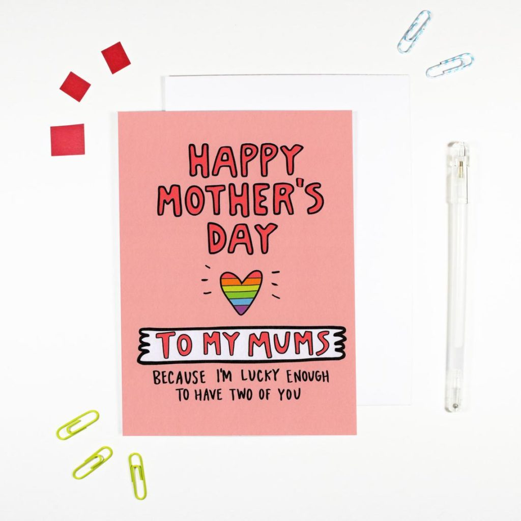 Rainbow heart Mother's Day card. (Etsy/AngelaChick)