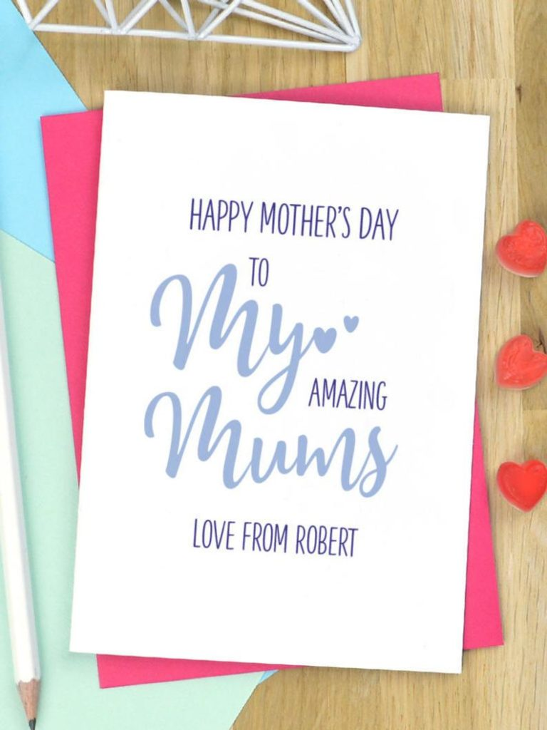 A personalised Mother's Day card. (Etsy/PinkandTurquoise)