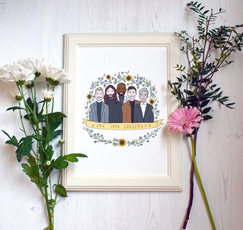 A print of the Fab Five. (JessicaWoodhouse/Etsy)