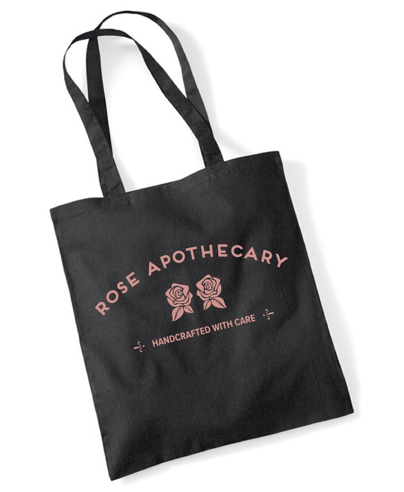 The Rose Apothecary tote bag. (NovaTerraStore/Etsy)