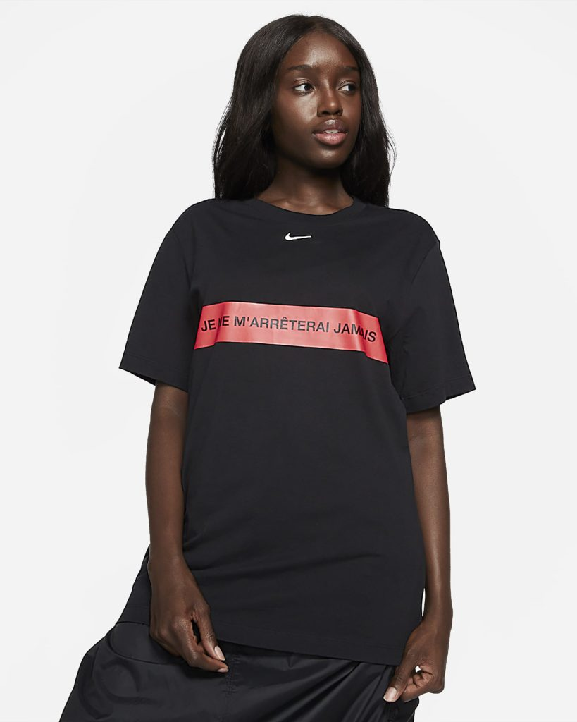 The 'I will never stop' t-shirt. (Nike)