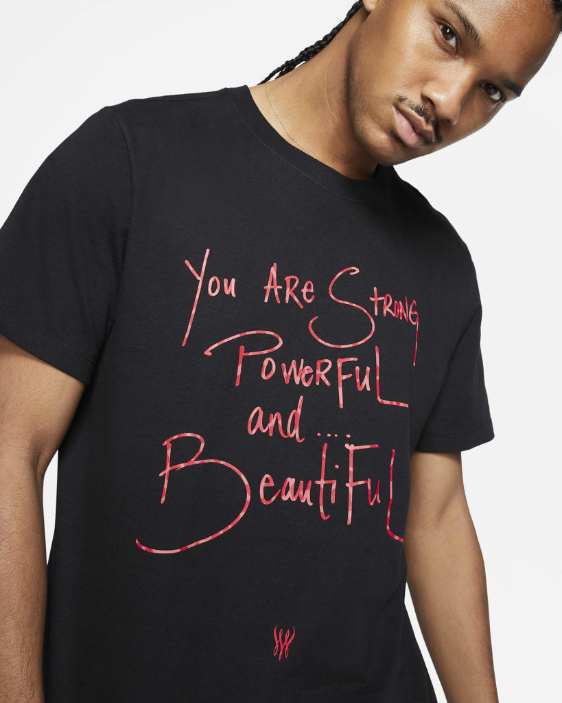 The 'You are Strong, Powerful and Beautiful' t-shirt. (Nike)