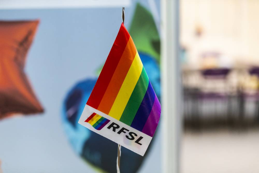 Logo for Swedish Federation for Lesbian, Gay, Bisexual, Transgender, Queer and Intersex Rights (RSFL)