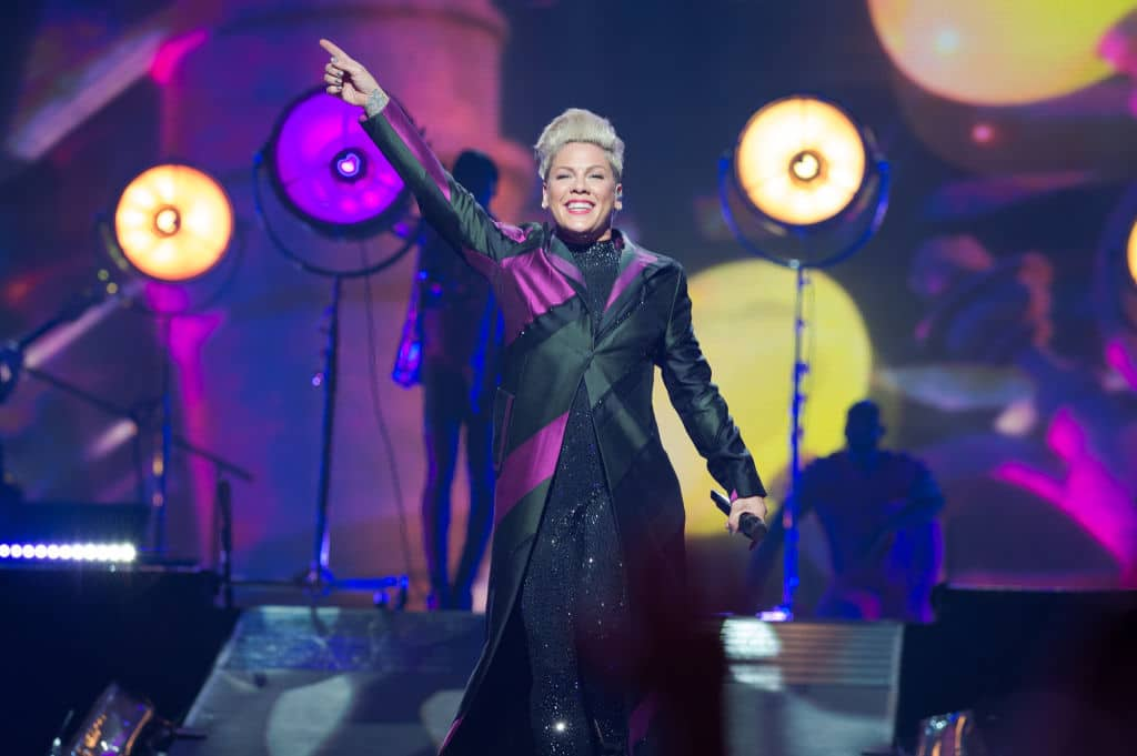 The Amazon Prime documentary follows Pink as she embarks on her Beautiful Trauma World Tour. (Photo by David Wolff - Patrick/Redferns)