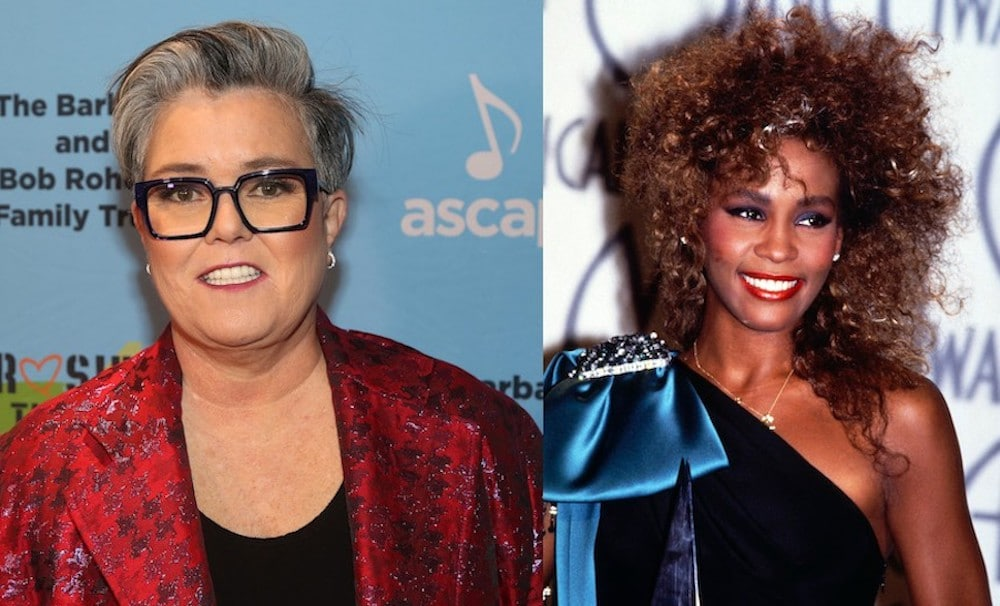 Rosie O'Donnell and Whitney Houston