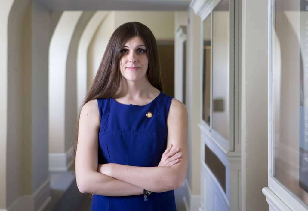 Virginia delgate Danica Roem, who introduced the bill to ban gay and trans panic defences in the state