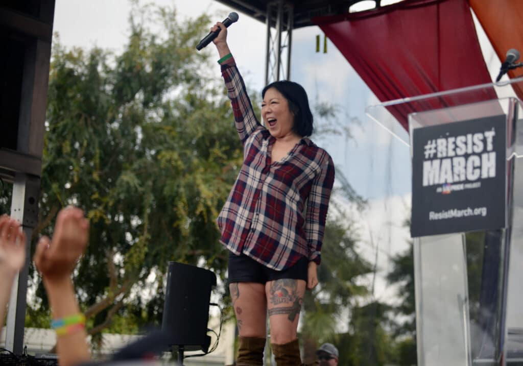 Margaret Cho speaks at the LA Pride ResistMarch