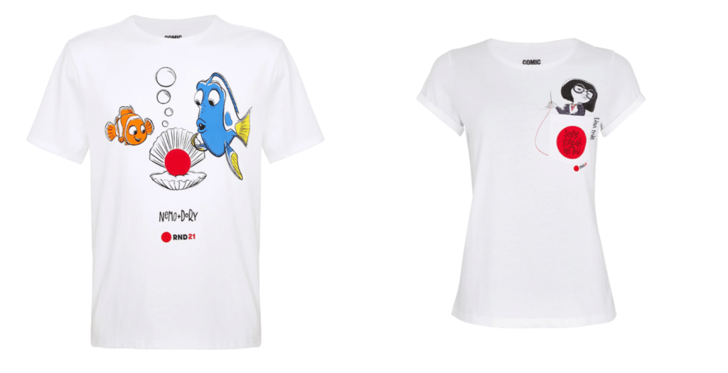 The collection features characters from Finding Nemo and The Incredibles. (Comic Relief/TK Maxx)