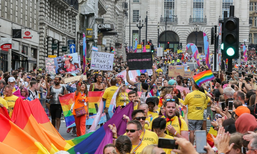 Huge crowds gathered for Pride in London in 2019