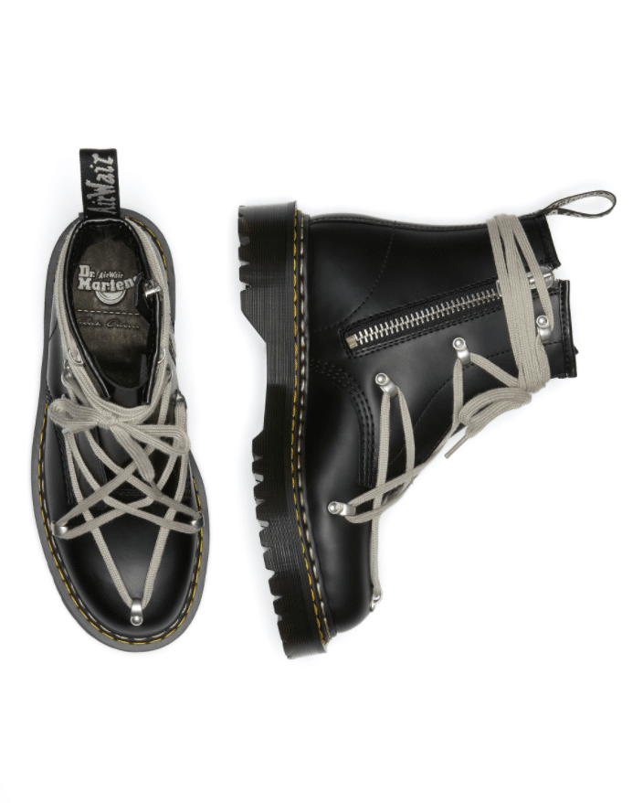 The collaboration with designer Rick Owens will be released on 20 March. (Dr Martens)