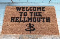 A Buffy the Vampire Slayer welcome mat