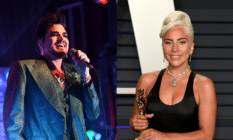 Adam Lambert and Lady Gaga have worked together before, performing together on Lambert's tour with Queen. (Getty)