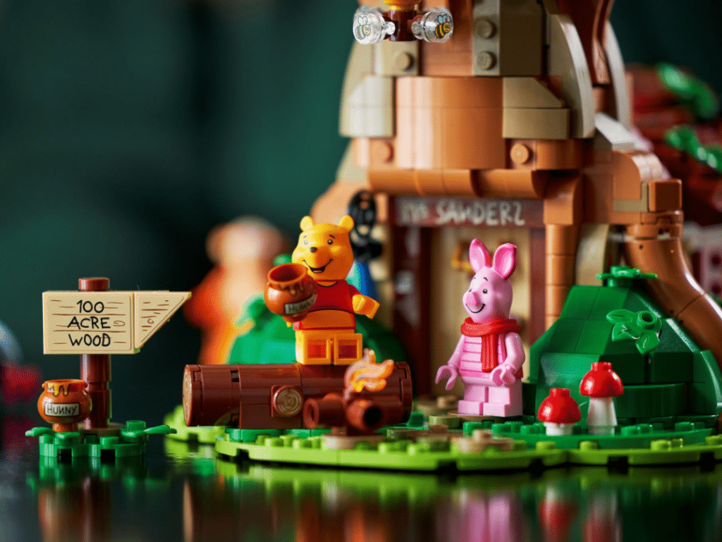 The 1,200 piece set features loads of cute nods to the beloved series. (Lego)