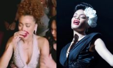Andra Day crying / as Billie Holiday