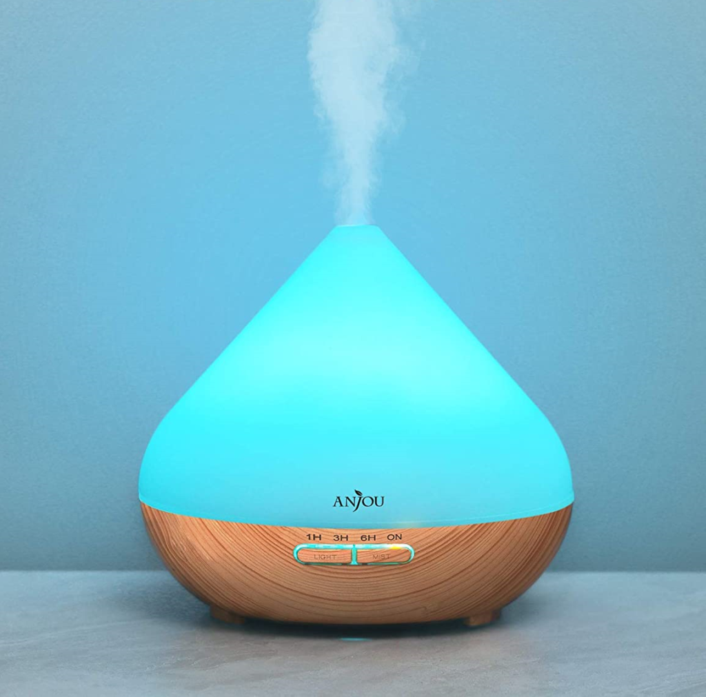 Diffusers have timer, sleep, colour change and mist features. (Amazon)